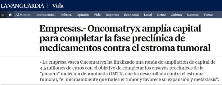 Ampliación Capital Oncomatryx